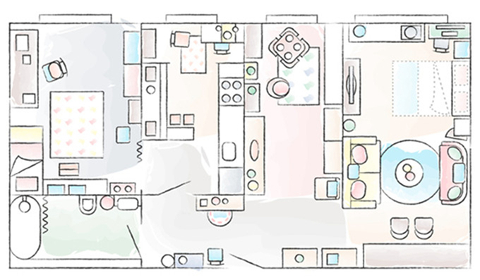 透着浓厚的复古气息的小户型公寓