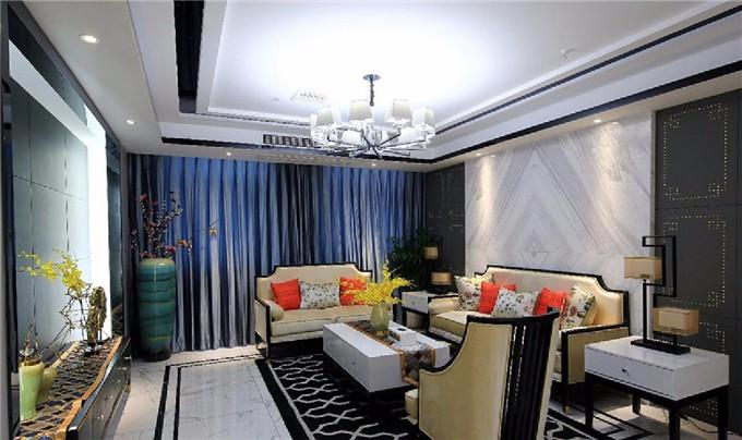 典雅清新 新中式线条3居室
