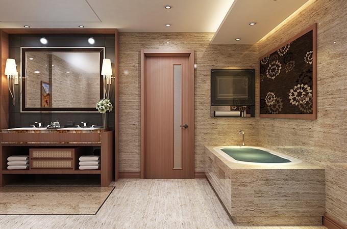 价格不是决定因素,卫生间木门的材质也很重要。
