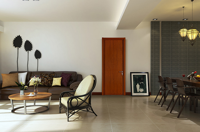 对于卧室木门来说,油漆的质量最为重要。
