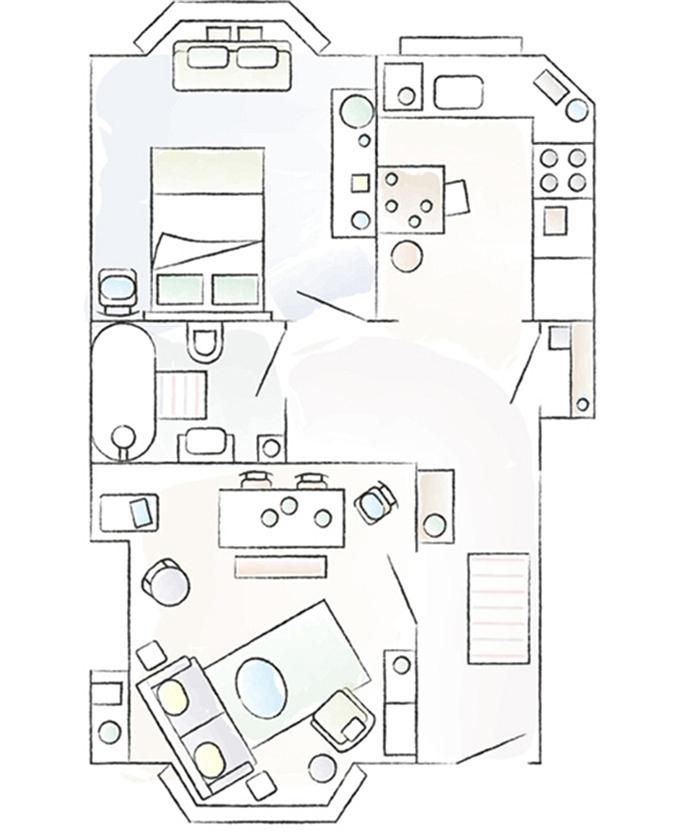 家装参观:对租住的公寓进行小改造