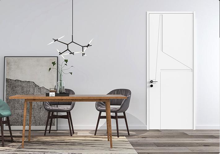 白色清新风格的平板门是大多数青年男女的钟爱