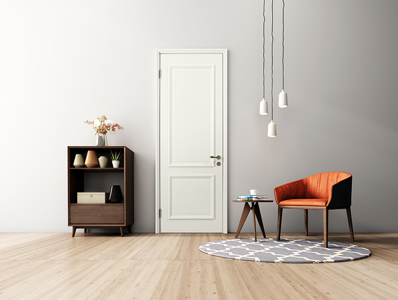白色油漆平板门六面封漆工艺