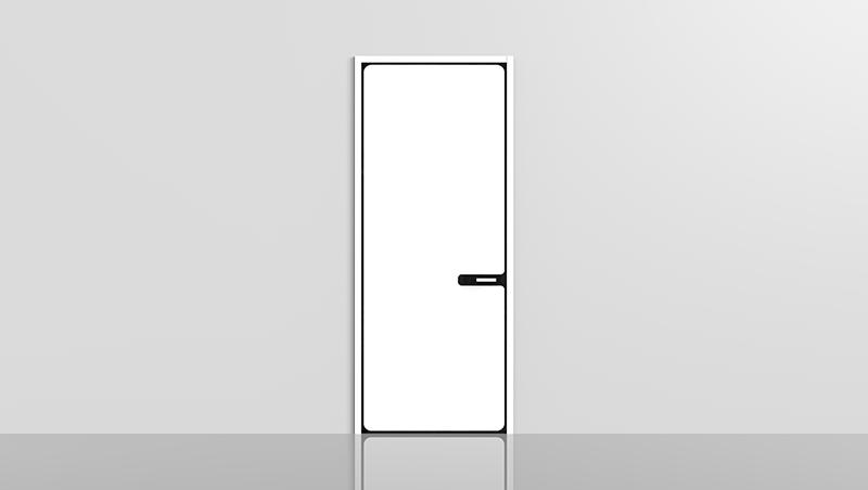 平板门搭配室内装修设计营造出不一样的装修效果